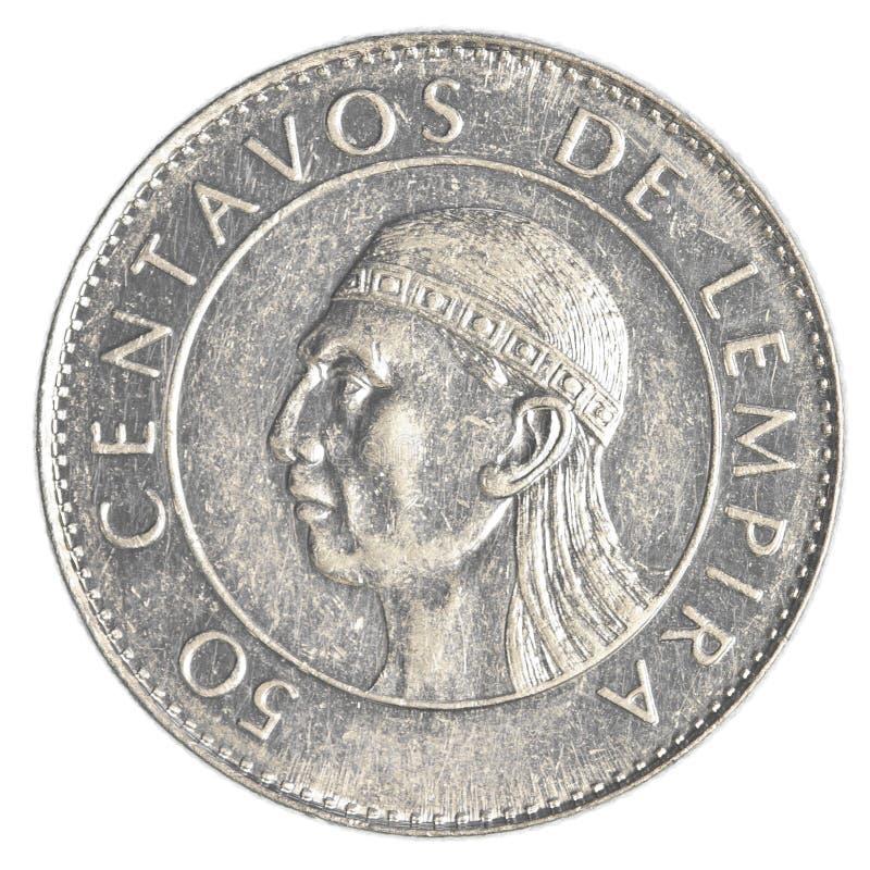 50-honduranische Lempiracentavo-Münze stockfotografie