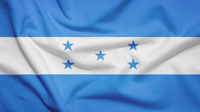 Honduras flag with fabric texture. Honduras flag on the fabric texture stock illustration
