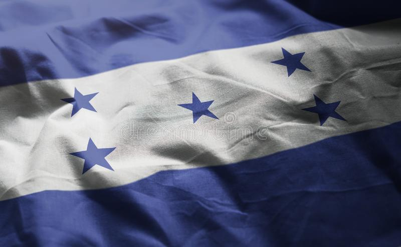 Honduras Flag Rumpled Close Up.  royalty free stock images