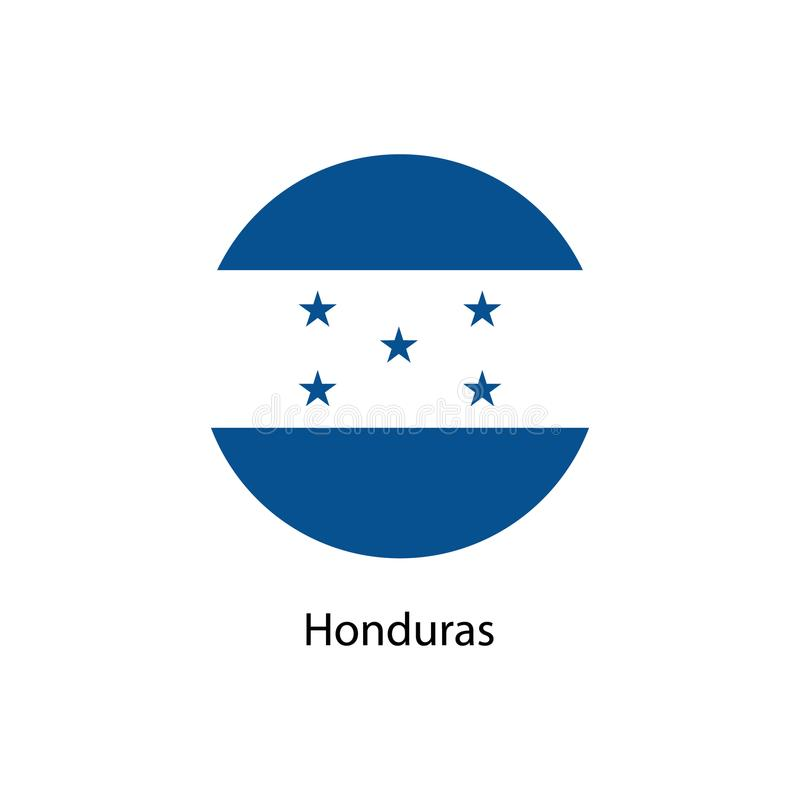 Honduras Flag Vector Round Icon stock illustration