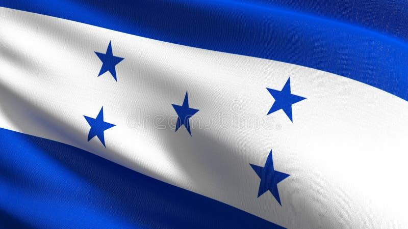 Honduras flagi państowowej dmuchanie w wiatrze odizolowywającym Oficjalny patriotyczny abstrakcjonistyczny projekt 3D renderingu  ilustracja wektor