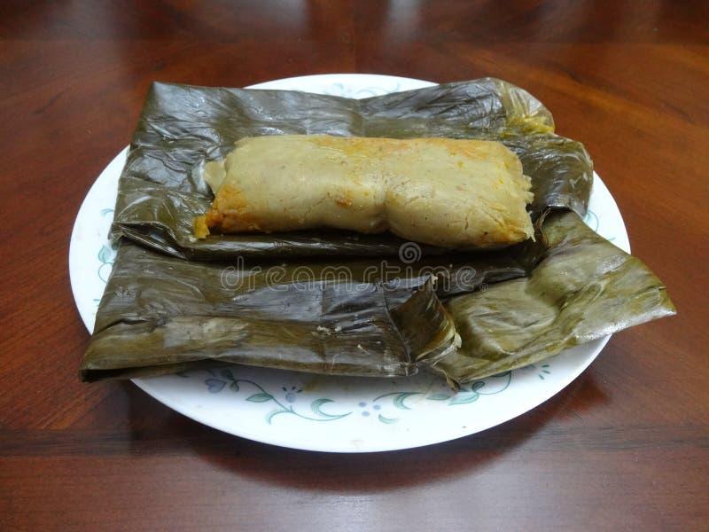 Honduras karmowi domowej roboty tamales odwijający zdjęcia royalty free
