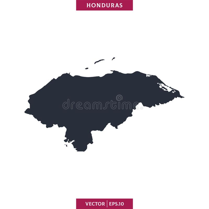 Free Honduras Map. High Detailed Map Vector In White Background. Stock Image - 183152531