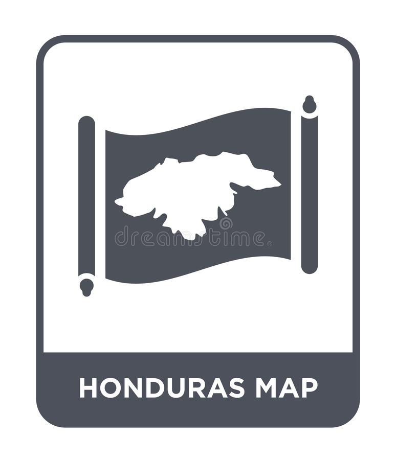 Honduras map icon in trendy design style. honduras map icon isolated on white background. honduras map vector icon simple and. Modern flat symbol for web site vector illustration