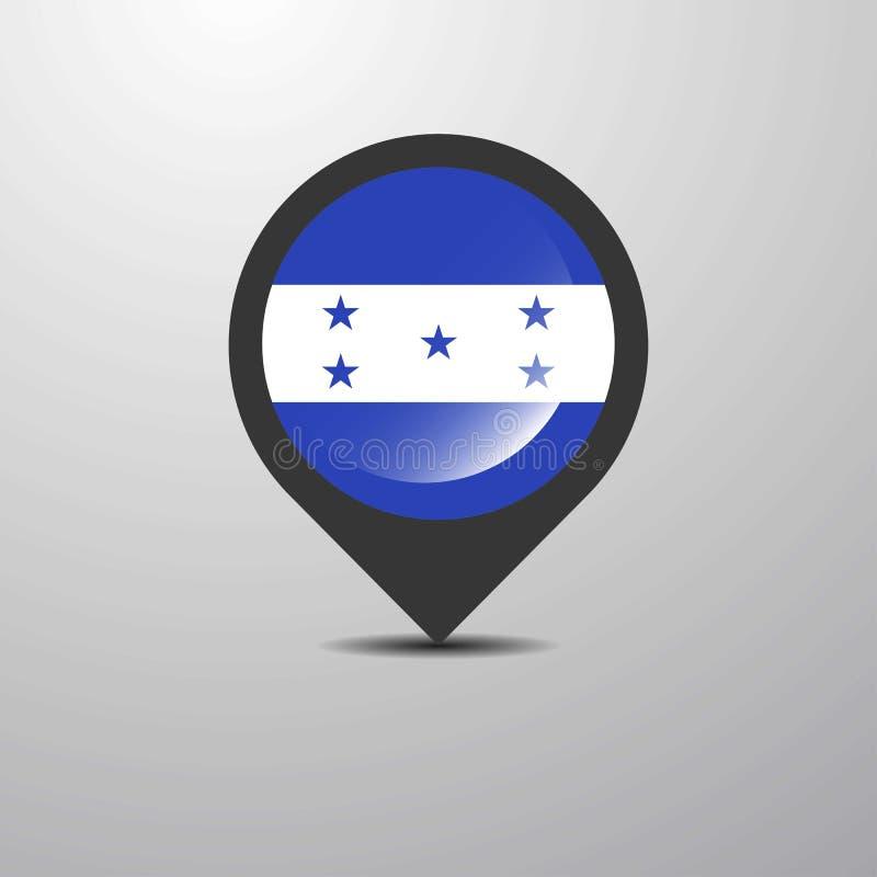 Honduras mapy szpilka ilustracja wektor