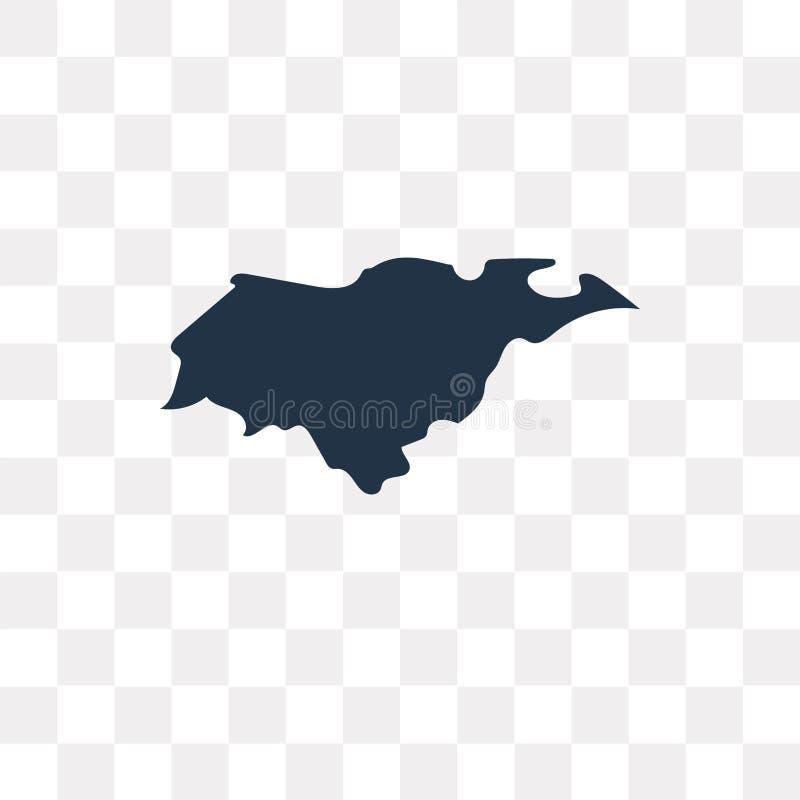 Honduras mapy wektorowa ikona odizolowywająca na przejrzystym tle, Hon royalty ilustracja