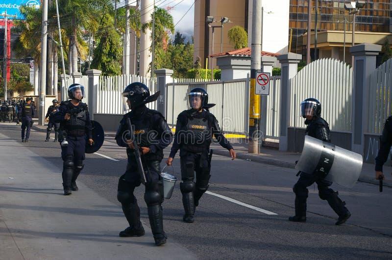 Honduras marsz protestacyjny Styczeń 2018 Tegucigalpa, Honduras 3 zdjęcie royalty free