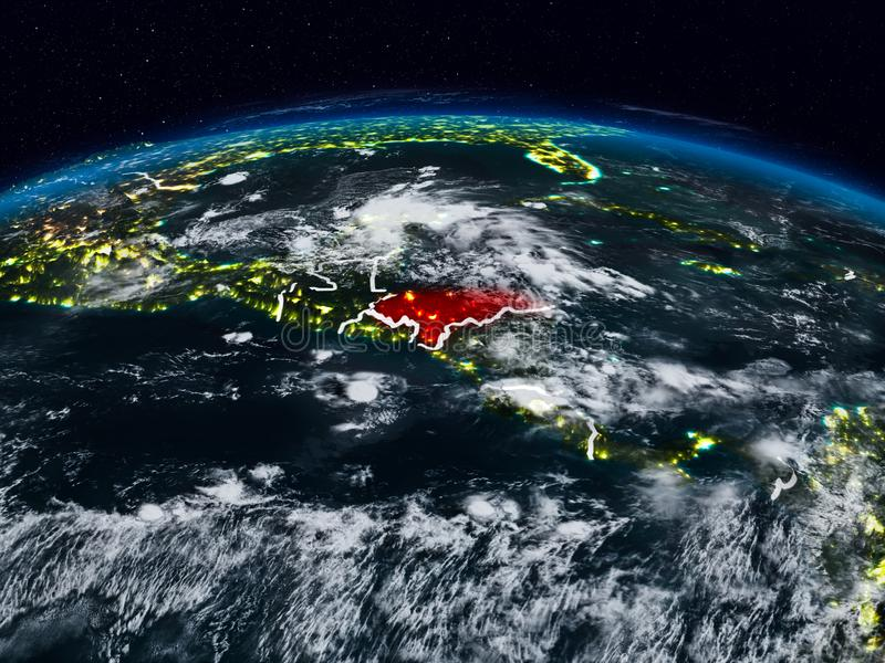 Honduras nachts lizenzfreies stockbild