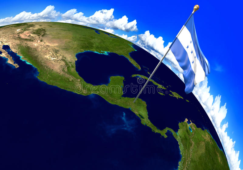 Honduras national flag marking the country location on world map download honduras national flag marking the country location on world map 3d rendering parts gumiabroncs Choice Image