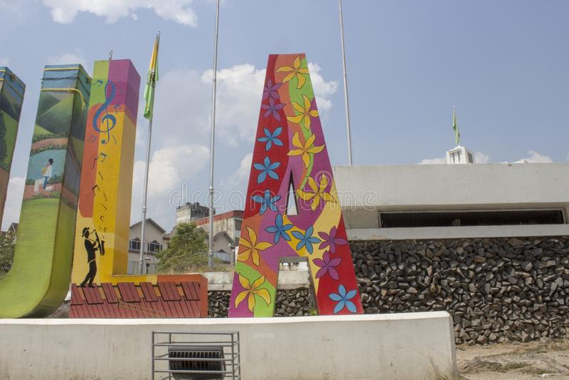 Honduras, San Pedro Sula, May, 2009: center of the city of san pedro sula stock images