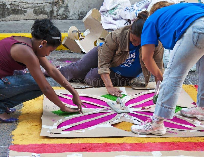 Honduras Semana Santa Alfombra Matrycuje zdjęcia royalty free