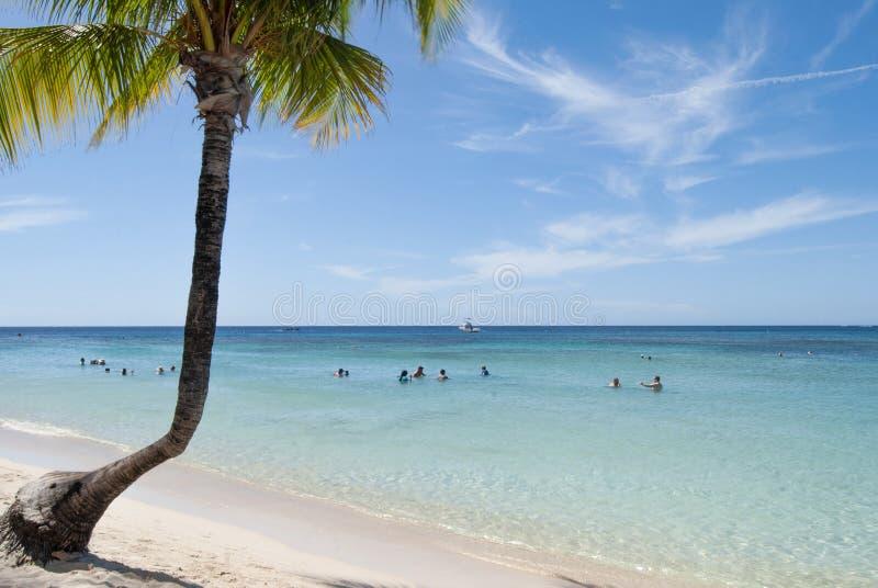 Honduras: spiaggia di Infinity Bay Beach a West Bay, isola di Roatan immagini stock