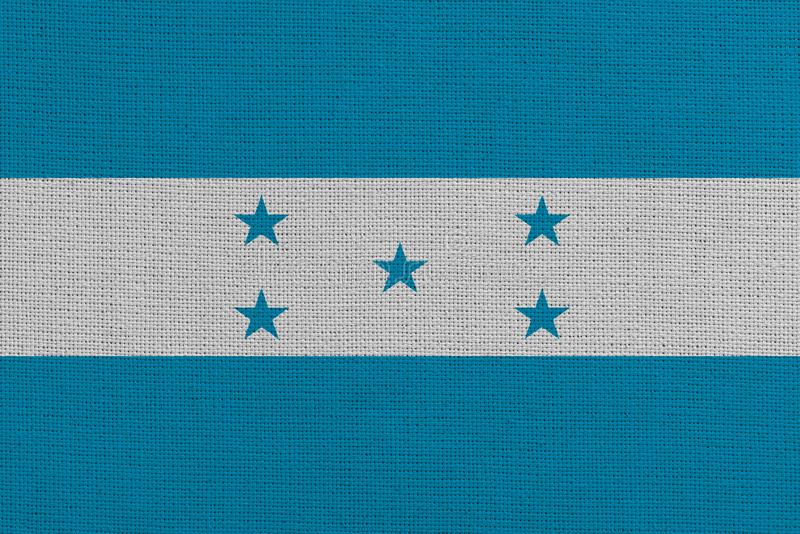 Honduras-Stoffflagge stockbild