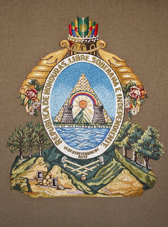 Honduras-Wappen stockbilder