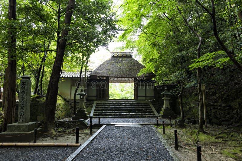 Honen-in, een Boeddhistische die tempel in Kyoto, Japan wordt gevestigd stock foto