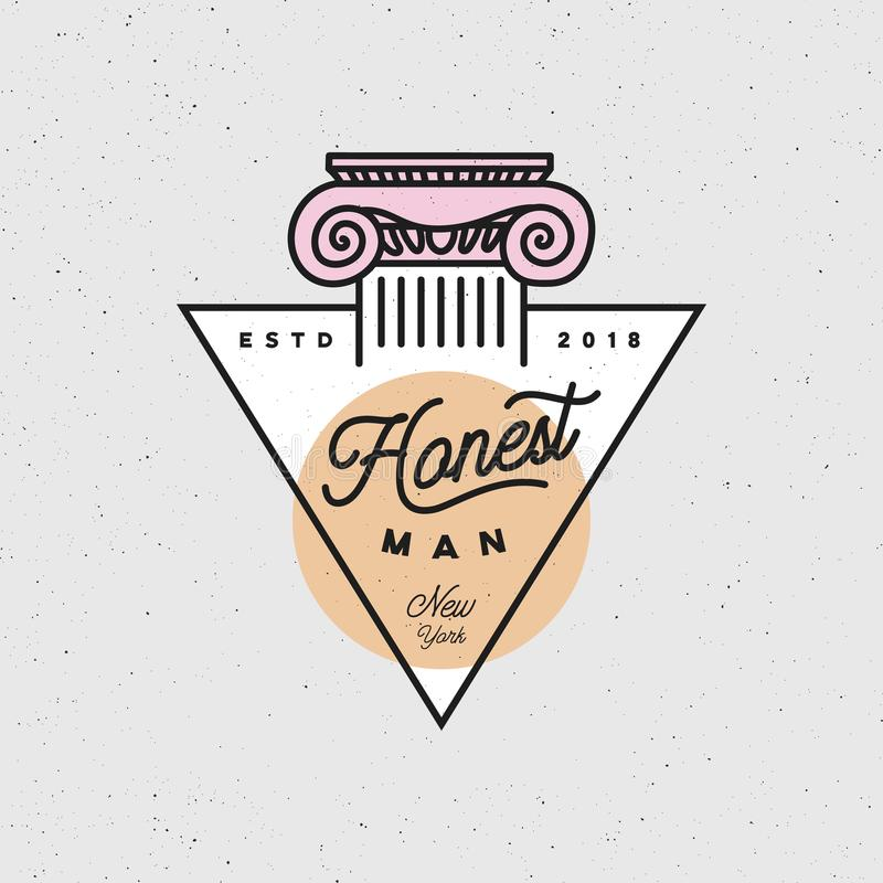 Honest Man Clothing Company Label Vector Illustration Stock Vector