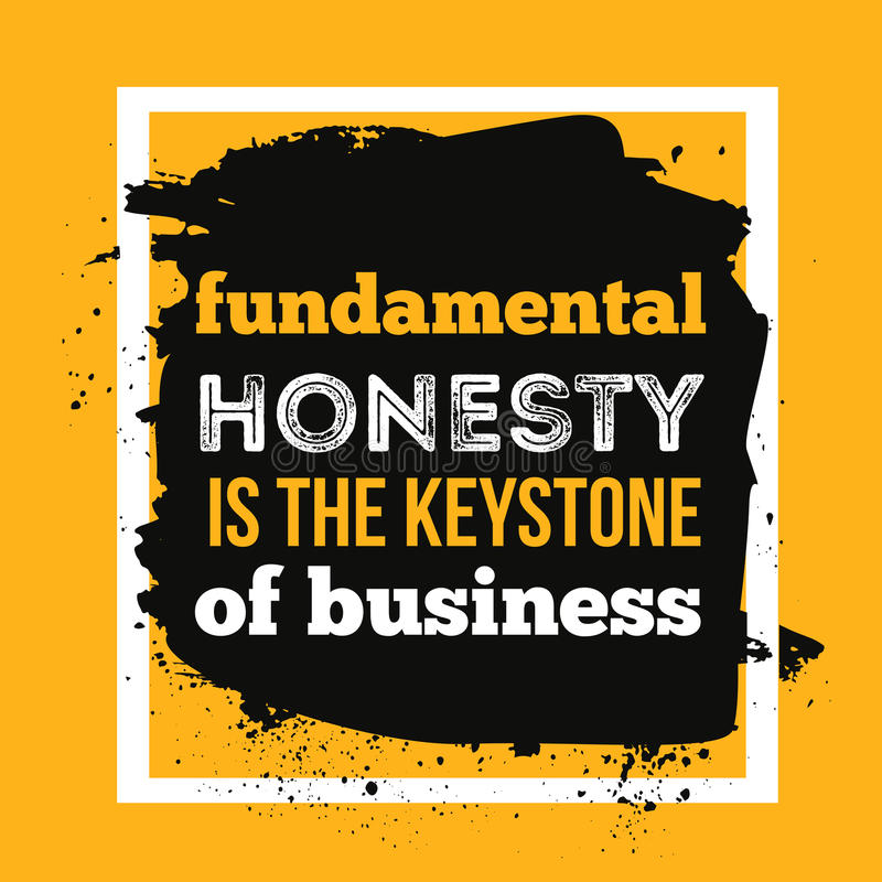 Download Slam Quotes About Truth: Honesty Is The Keystone Of Business. Typography Motivation