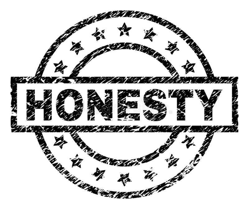 Grunge Textured HONESTY Stamp Seal royalty free illustration