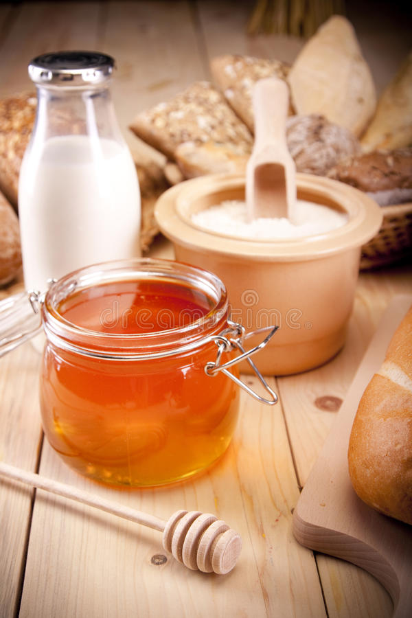 Download Honey! stock photo. Image of delicious, gold, eggs, bread - 15631522