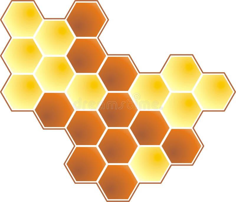 Download Honey 2d stock vector. Image of hexagon, energetic, insect - 6205227