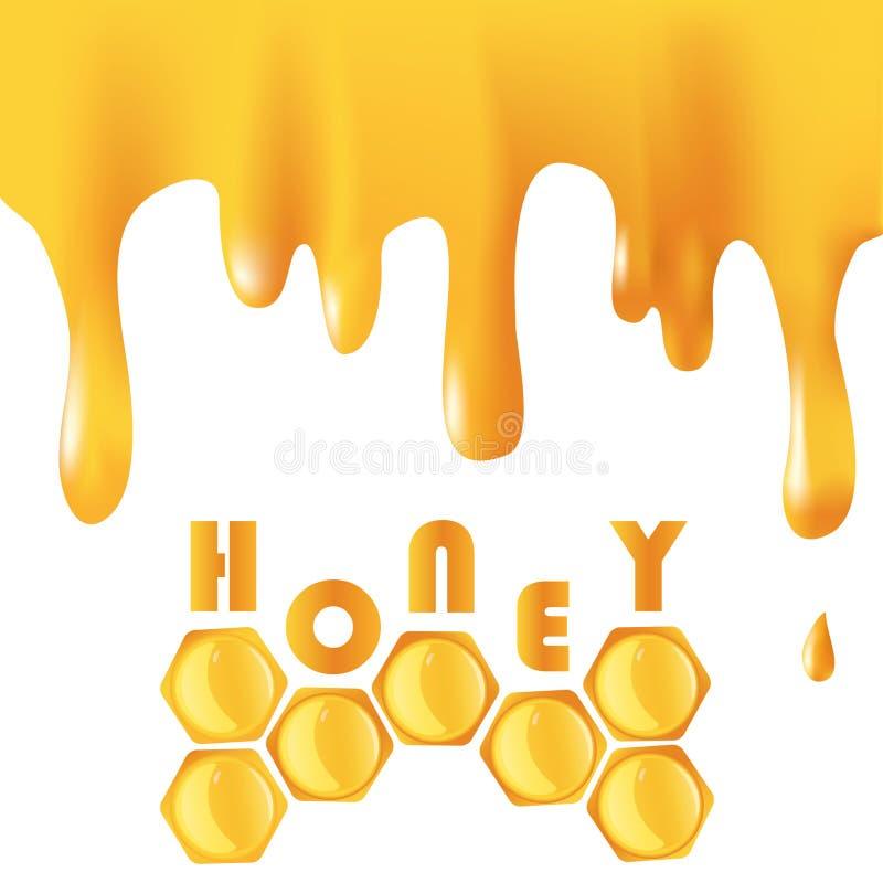Honey background stock illustration