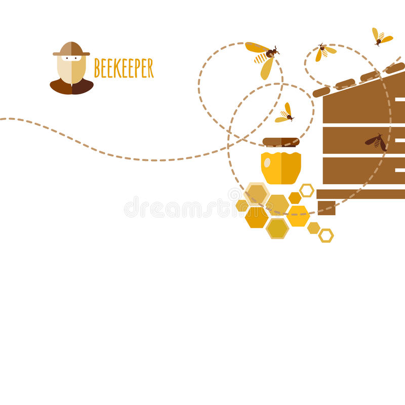 Honey Background libre illustration