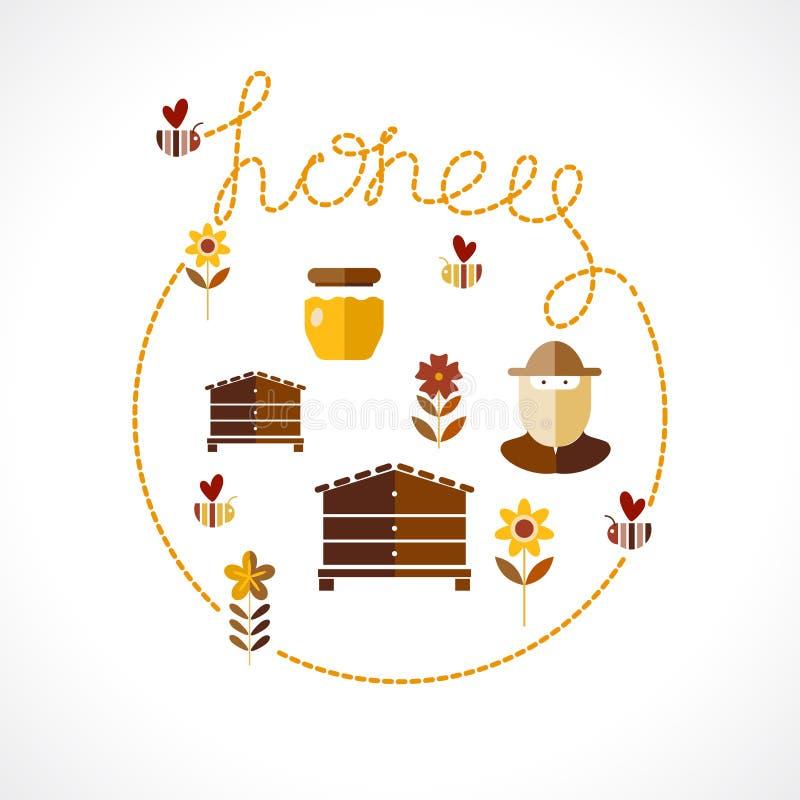 Honey Background ilustración del vector