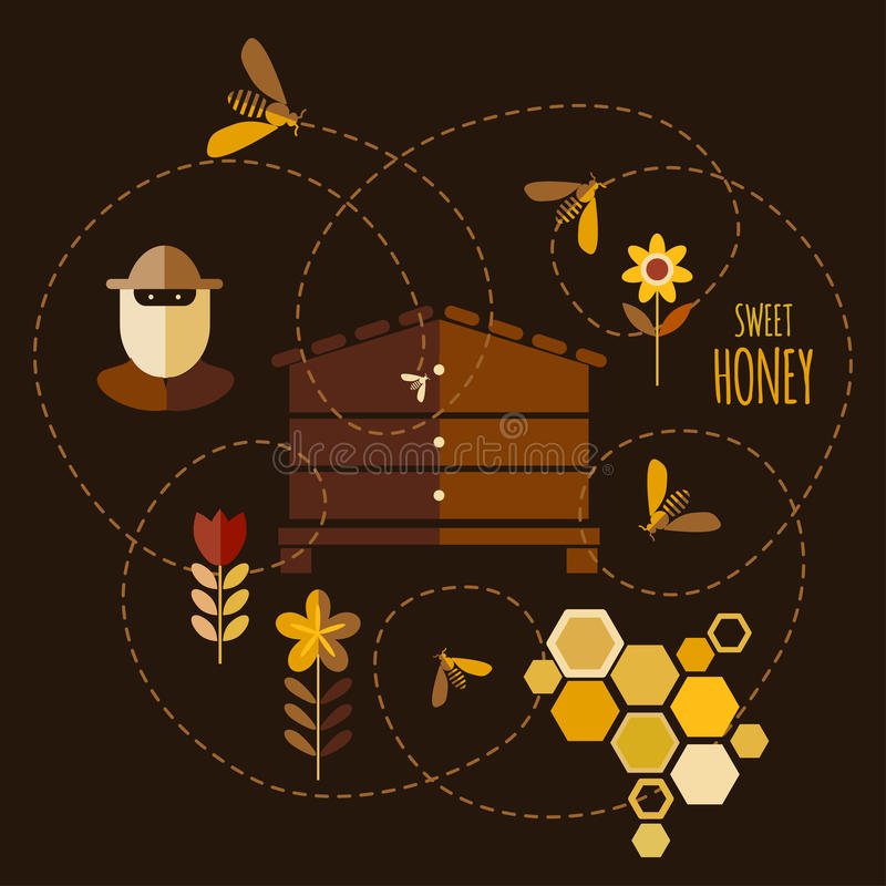 Honey Background ilustración del vector