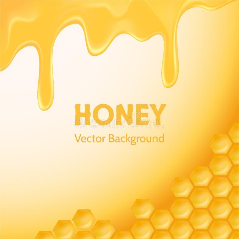 Honey background for advertising stock illustration