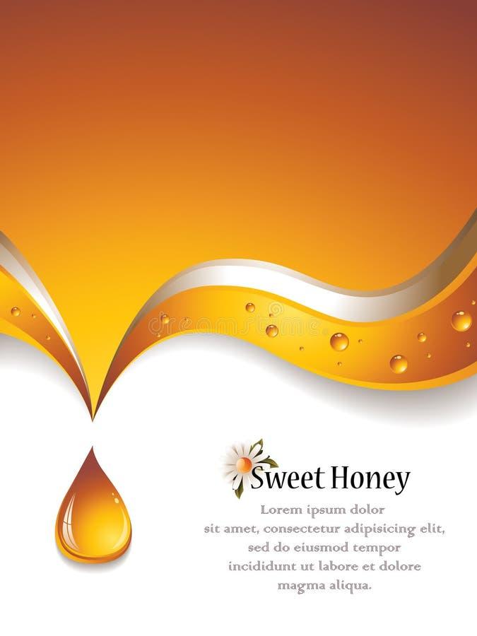 Honey Background doce ilustração stock