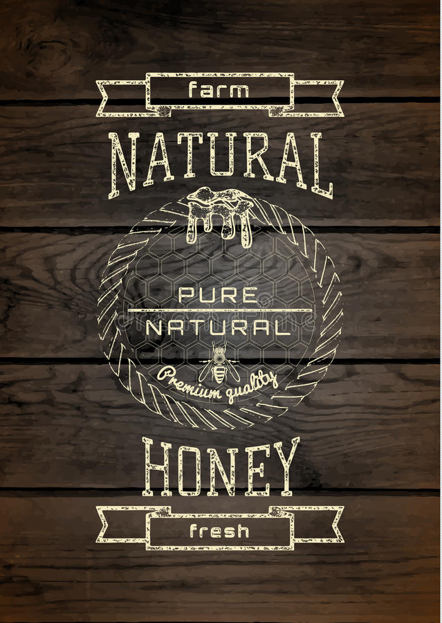 Honey badges logos and labels for any use vector illustration