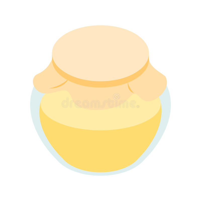 Honey bank isometric 3d icon royalty free illustration