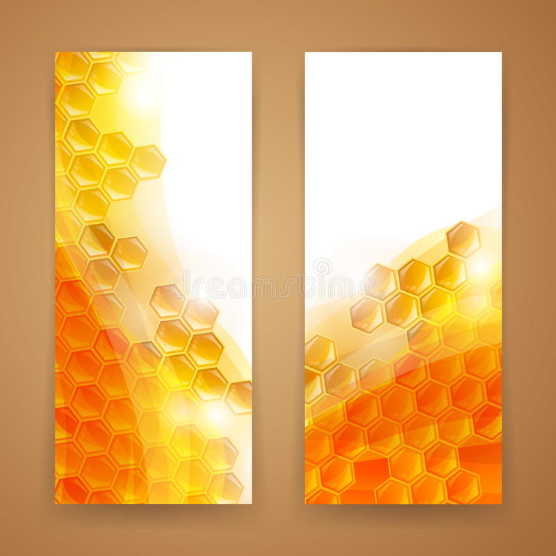 Honey Banners illustrazione di stock