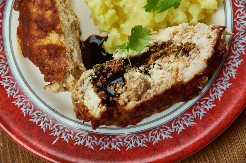 Honey Barbecue Meatloaf imagem de stock royalty free