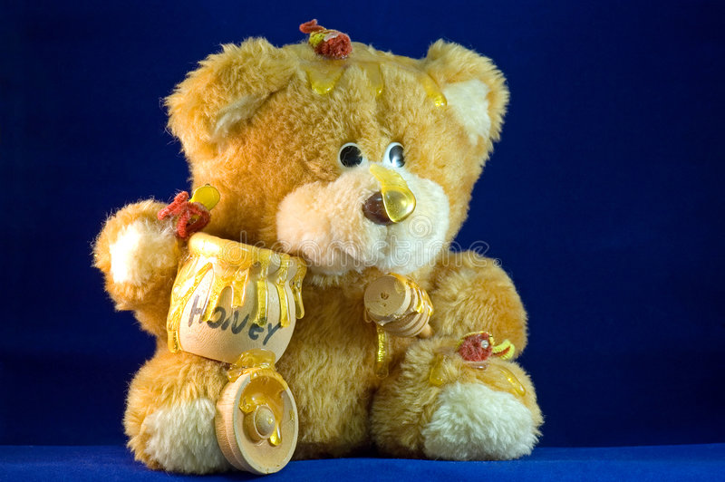 Download Honey bear stock photo. Image of covered, stuffed, honey - 4142584