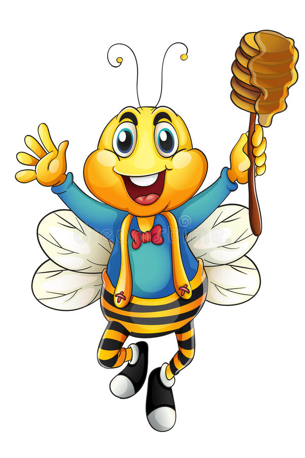 Download Honey bee stock vector. Image of creature, graphic, stripes - 26264358