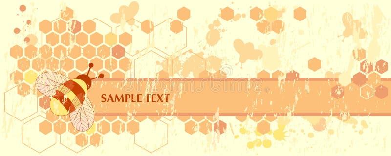 Honey Bee Banner vector illustration