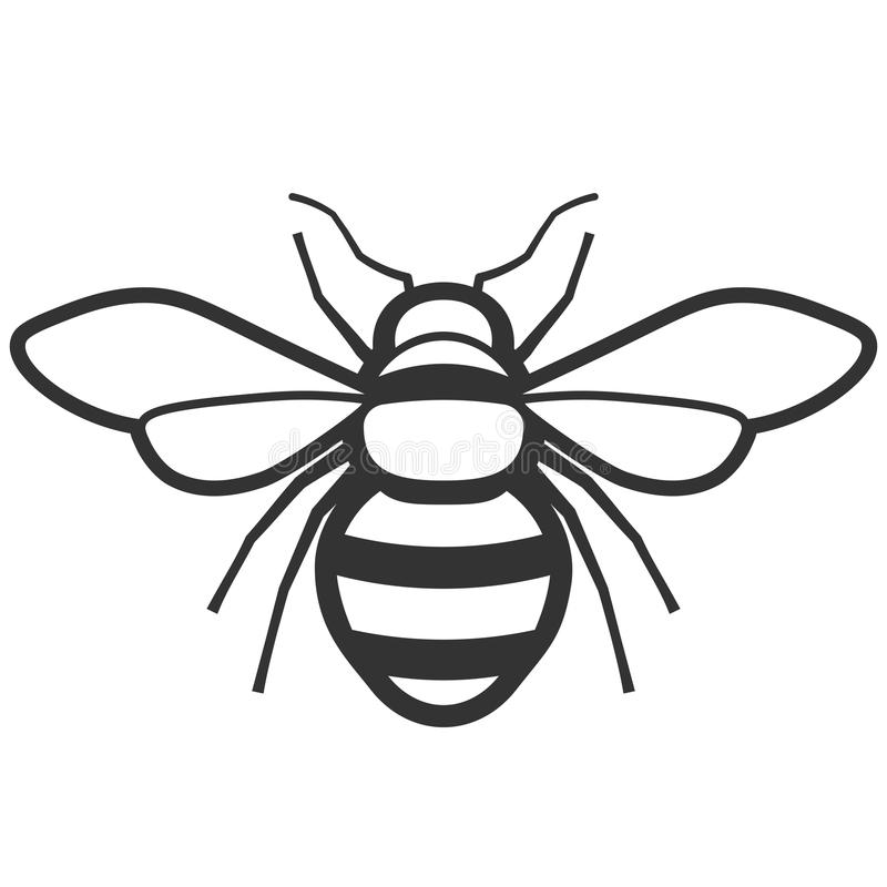 Honey bee icon royalty free illustration