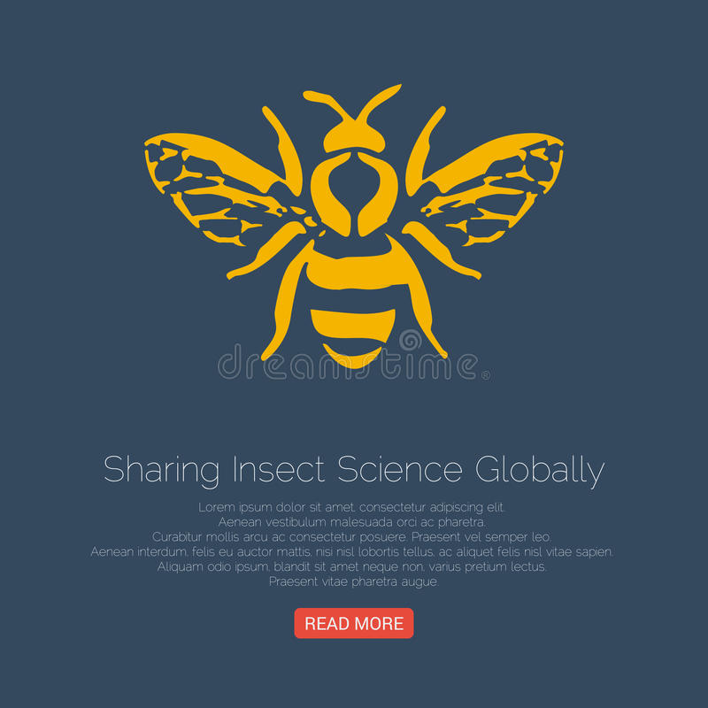 Free Honey Bee Icon. Vector Illustration. Royalty Free Stock Images - 79107889