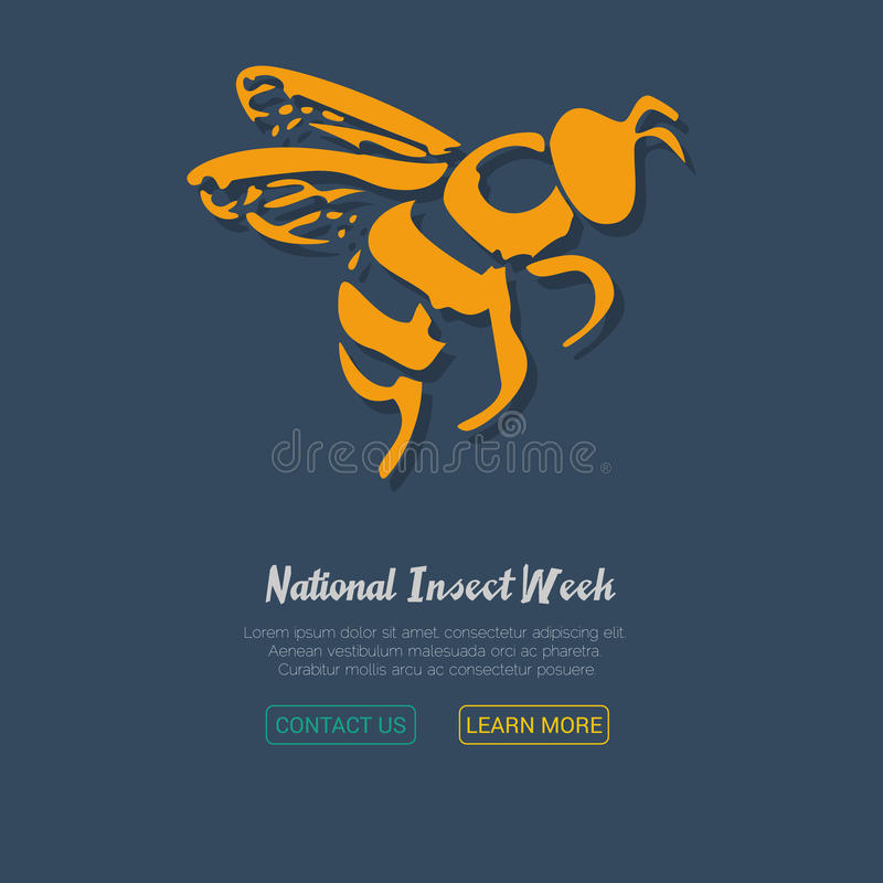 Free Honey Bee Icon. Vector Illustration. Stock Photo - 79107910