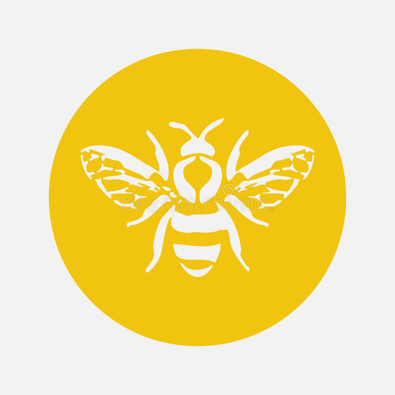 Free Honey Bee Icon. Vector Illustration. Stock Images - 79107944