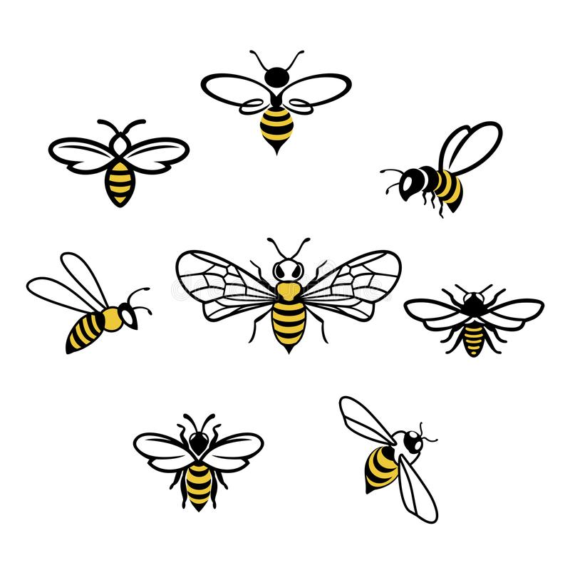 Honey Bee Icons arkivbilder