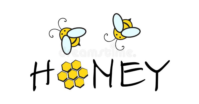 Honey Bee Logo illustration stock