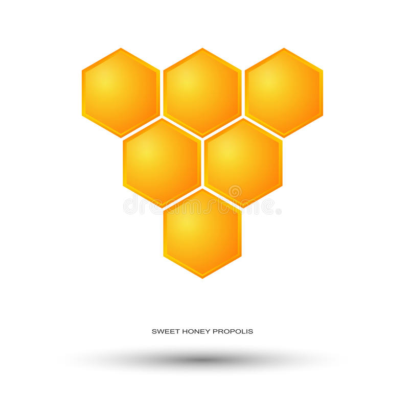Honey Bee Logo royaltyfri illustrationer