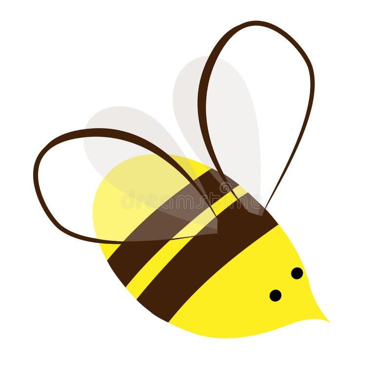 Honey Bee mignon et occupé Conception de vecteur de logo ou d'icône illustration tirée par la main de griffonnage Copie mignonne illustration de vecteur