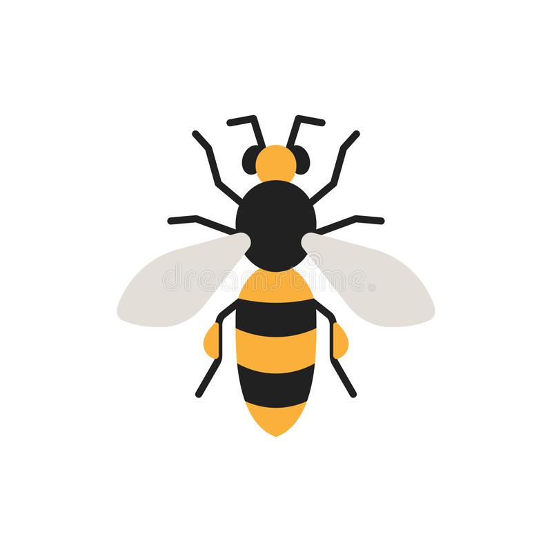 Bee honey insect single flat color vector icon vector illustration