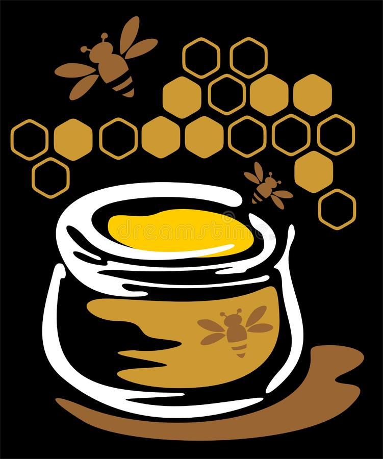 Download Honey and bees stock vector. Illustration of picture, enjoy - 6840849