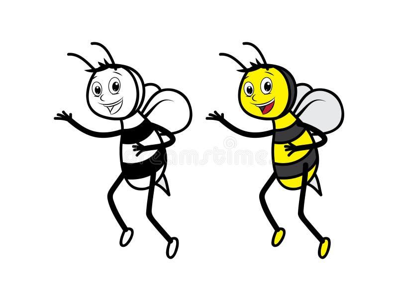 Line Art Bee : Honey bees character stock illustration of easily