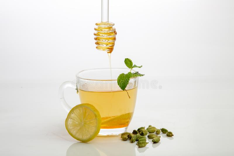 Honey lemon tea stock images