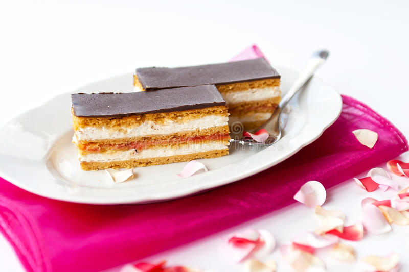 Honey cake royalty free stock photos